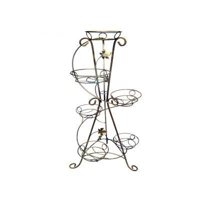 Kovový stojan na kvety vežovitý spiral 6 W-016
