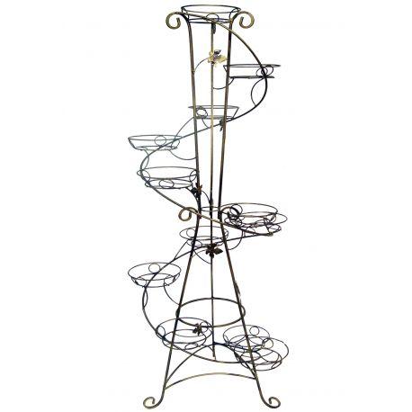 Kovový stojan na kvety vežovitý spiral 12 W-013