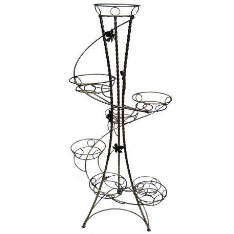 Kovový stojan na kvety točený vežovitý spiral 8 W-019