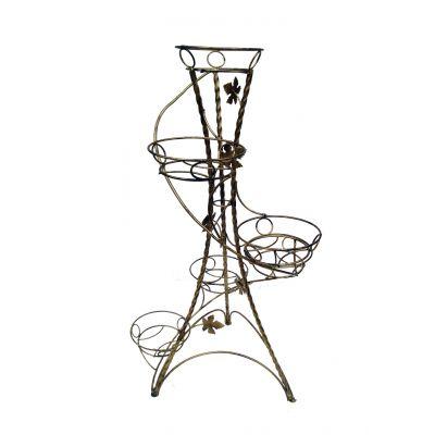 Kovový stojan na kvety točený vežovitý spiral 6 W-020