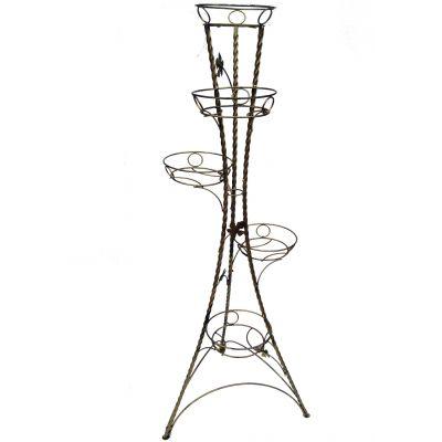Kovový stojan na kvety točený vežovitý 5 W-023