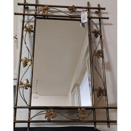 Kovové dekoračné zrkadlo malé M-060