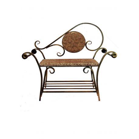 Kovácsoltvas ülőke-szófa M-040