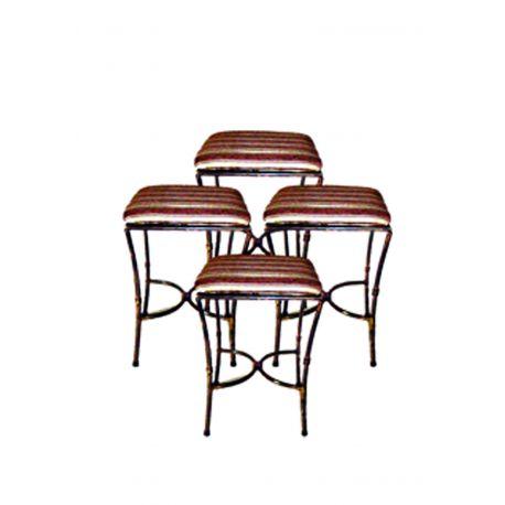 Kovová dekoračná stolička M-045