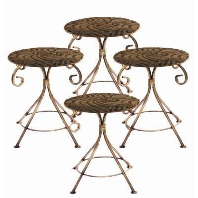 Kovová dekoračná stolička M-047