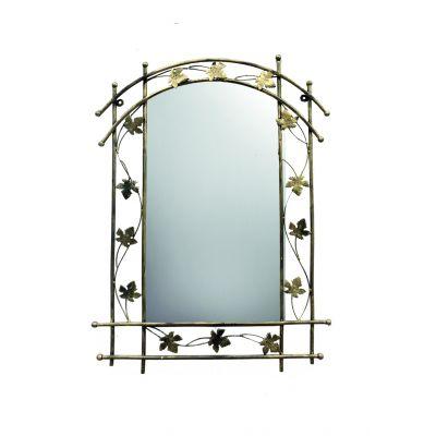 Kovové dekoračné zrkadlo Bambus M-059