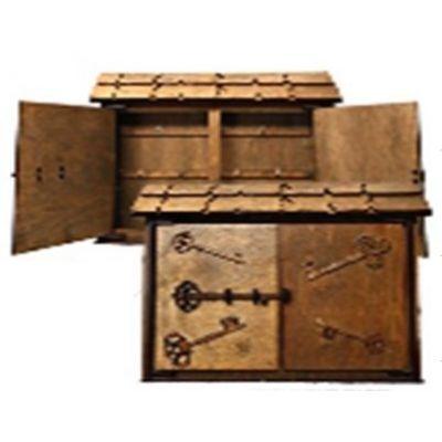 Drevená Skrinka na klúče H-001 domček