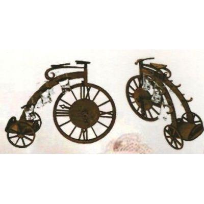 Drevená dekorácia s pohárikmi B-004 bicykel