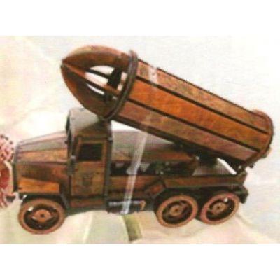 Drevená dekorácia s pohárikmi B-008 nákladné auto