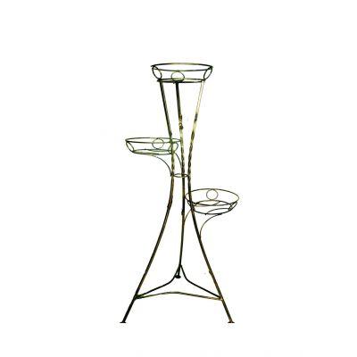 Kovový stojan na kvety vežovitý bez listov 3 W-008