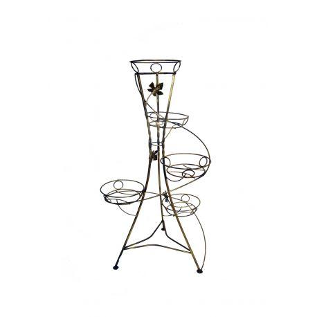 Kovový stojan na kvety vežovitý spiral 5 W-012
